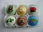 50th anniversary  cabin themed cake balls!